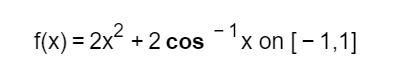 1 x on [-1,1 f(x) 2x2 cos