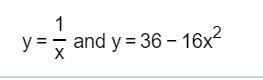 1 yand y 36 16x X