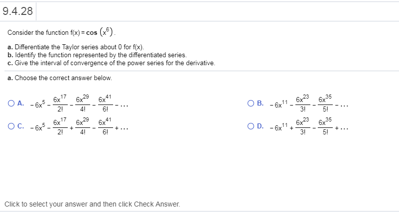 Answered: 9 4 28Consider the function f(x)-cos… | bartleby