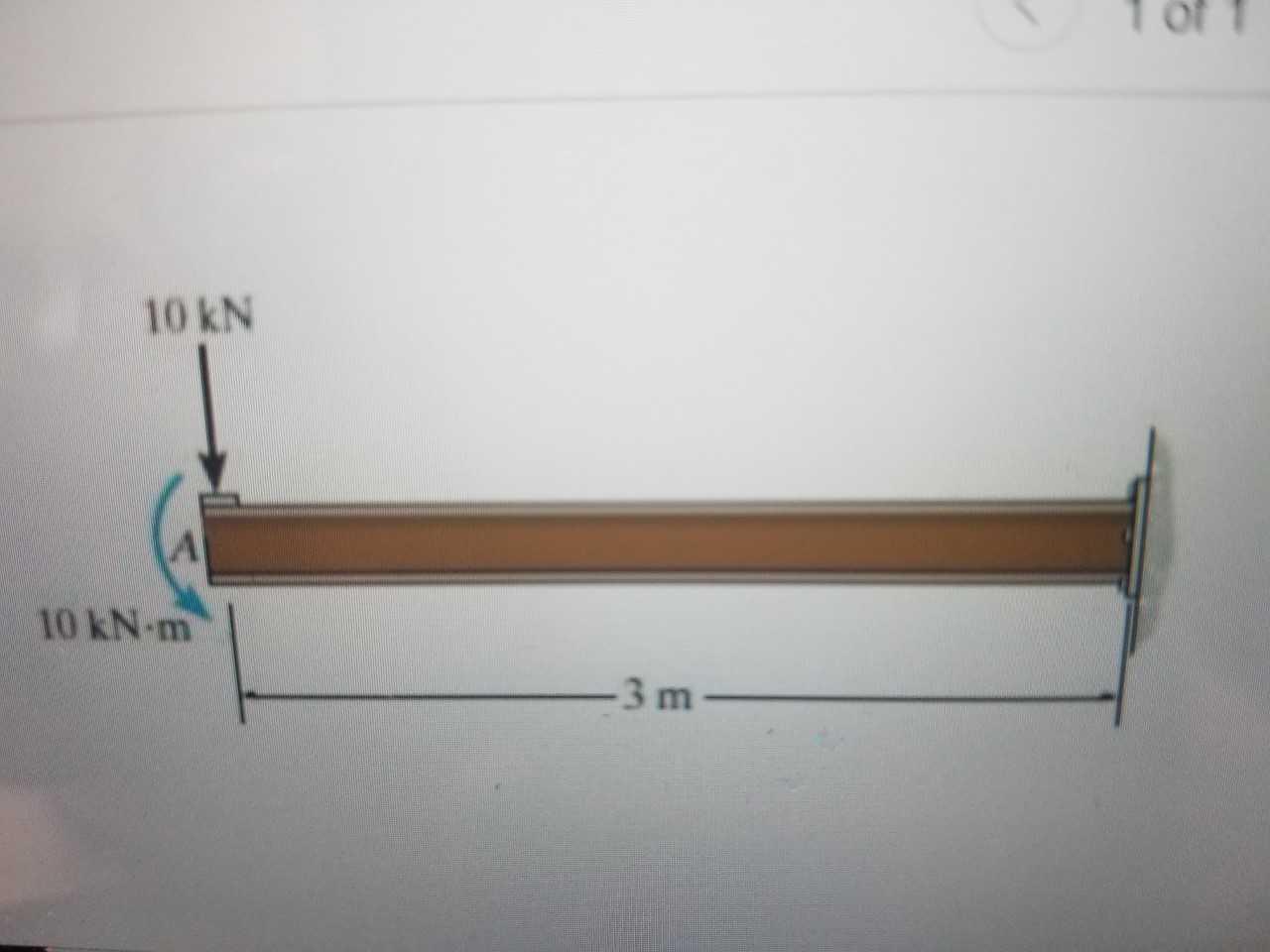 Tof 10 kN 10 kN-m