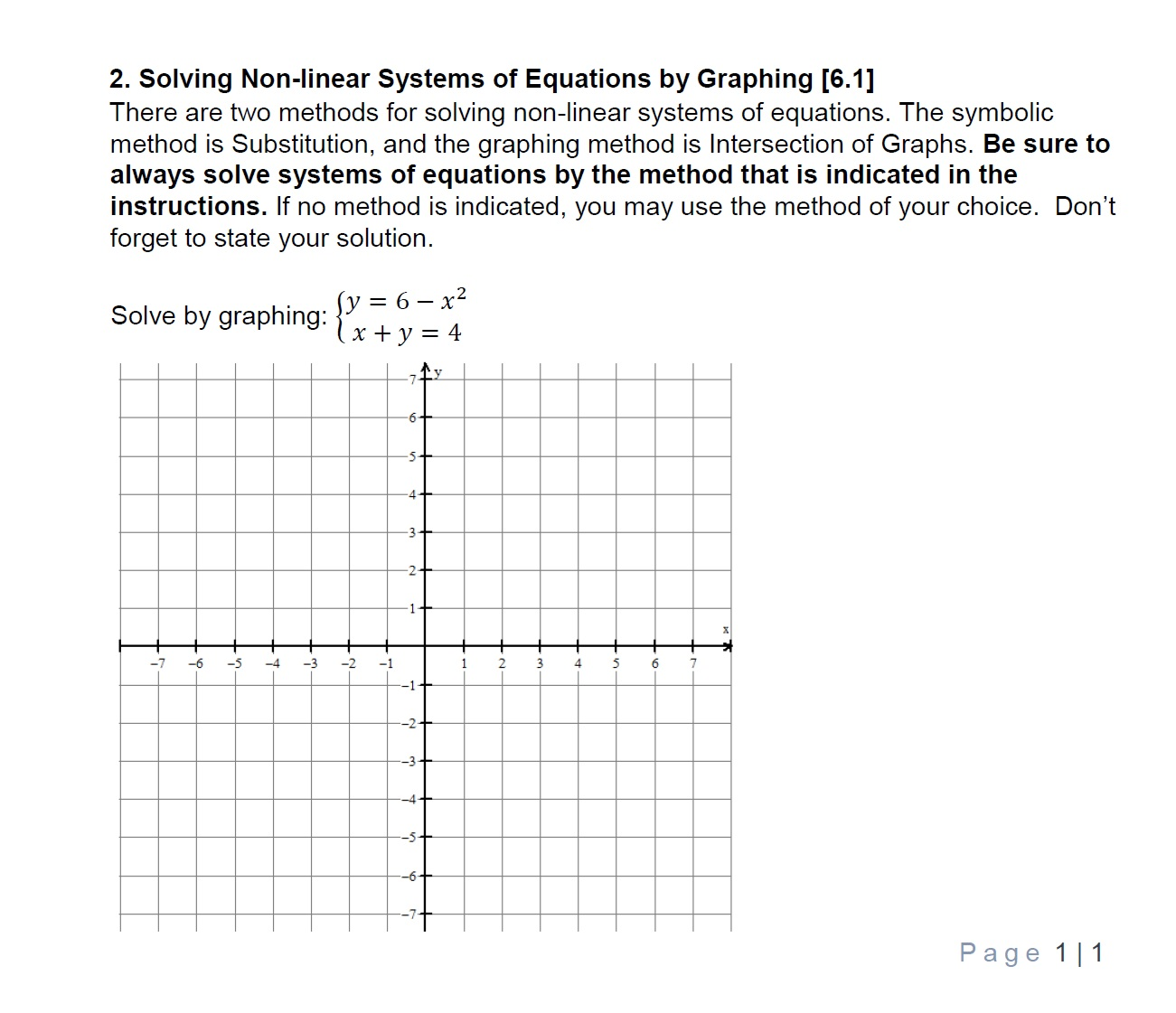 Answered: 2  Solving Non-linear Systems of… | bartleby