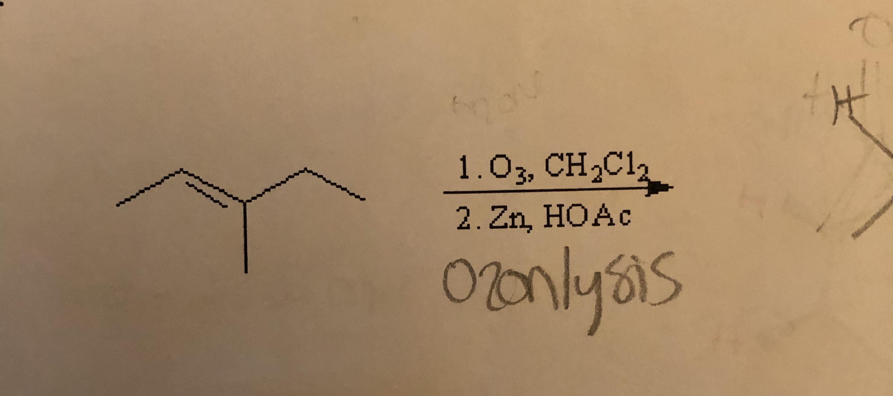 1 . C 3, CH-CI 2. Zn, HOAc