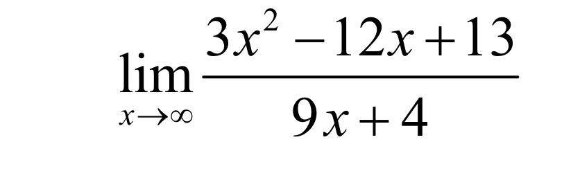 3x2-12x+13 lim