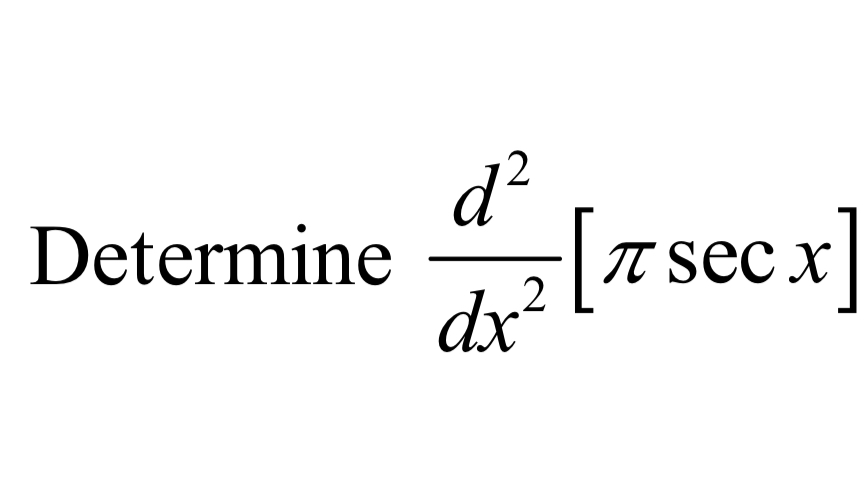 Determine-[π sec x DetermineTTS