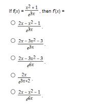 21 If fx)3then f(x) O 2x-2-1 3x 2x-3r2-3 3x O 2x-3x2-3 6x 2x 3x+2 O 2x-x2-1